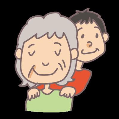 おばあちゃん肩揉むよ